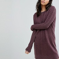 Abercrombie & Fitch Cable Knit Sweater Dress at asos.com