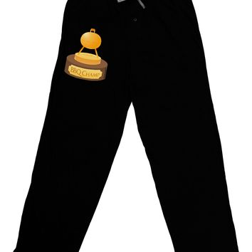 BBQ Champ - Golden Grill Trophy Adult Lounge Pants - Black by TooLoud