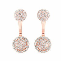 Crystal Round Ear Jackets