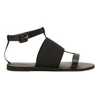 ROMWE Buckled Casual Black Flat Sandas