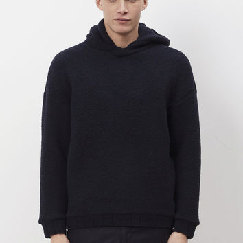 Totokaelo - Tomorrowland Navy Shaggy Wool Boa Hoodie - $346.50