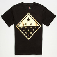 Ayc Gold Foil Diamond Boys T-Shirt Black  In Sizes