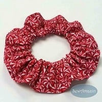 Peppermint Candy Christmas Dog Scrunchie Neck Ruffle
