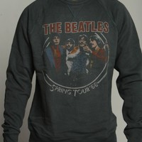 Junk Food Clothing Men's The Beatles Soft Vintage Pullover Sweater