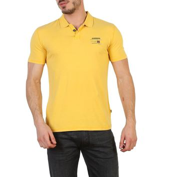Napapijri Men Yellow Polo