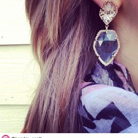 Selma Statement Earrings in Clear Crystal - Kendra Scott Jewelry