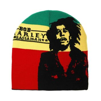 Winter Jamaica Knitted Reggae Rasta Bob Marley Style Beanies Hat Skullies Gorro Cap BLACK RED YELLOW GREEN