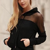 Women Hoodie Sweatshirt Crop Top Long Sleeve Loose Pullover Jumper New Hot Fashion