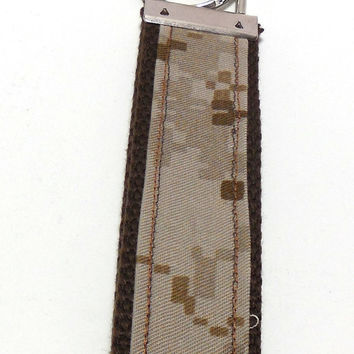 Tan Marpat Camo, Key Fob, Key Ring, or Key Chain