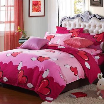On Sale 4pcs Bedding-set Bedding Set Queen Size Bed Sets Sheets Pillow Duvet Cover Linens Colcha De Cama No Comforter 443-3
