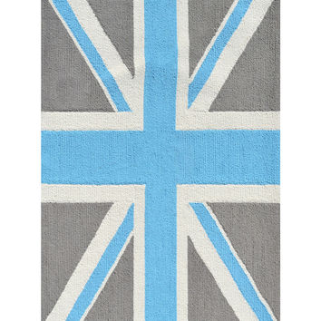 The Rug Market Union Jack Hand-Looped Rug