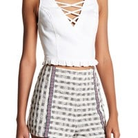 Flying Tomato   Lace-Up Crop Tank   Nordstrom Rack