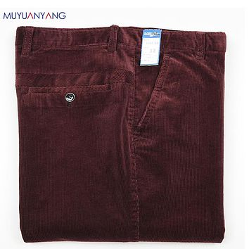 Casual Long Pants Corduroy Trousers For Male Clothing New Men's Pants