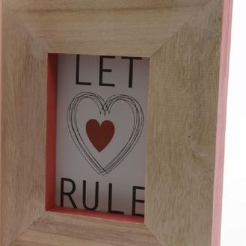 Basic Luxury Wood Picture Frame with Living Coral Pink Accented Edges 10""