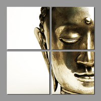 Modern Retro Religion for living room Decoration Gold Buddha Canvas printed Pain