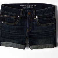 AEO 's Dark Denim Midi Short (Dark Wash)