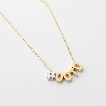 Hashtag Necklace - gold and silver, initials, personalized, hashtag, instagram, statement
