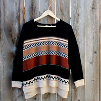 in the woods oversized knit sweater