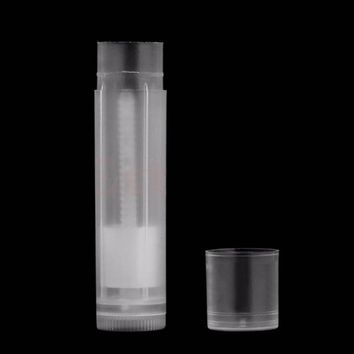 10 Pieces of Empty Transparent Lip Balm Tubes. Clear Lipstick & Gloss Containers. Perfect for Creating Your Own Cosmetics and Make-Up.