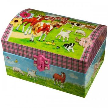 Farm Animals Musical Jewelry Box