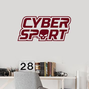 Vinyl Wall Decal Esports Cyber Sport Pro Gaming Video Games Player Stickers Mural (ig5504)