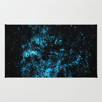 Scary starry scarfaced skull sky Area & Throw Rug by Pirmin Nohr