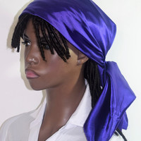 Purple  Stretch Satin  Hair Scarf - Satin Headwrap - Satin Hair Covering - Gift For Womem