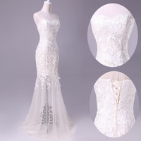 New Sexy Lace Prom Ball Cocktail party wedding dress Bridal Formal Evening gown