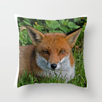 FOXY Throw Pillow by catspaws | Society6