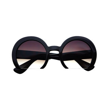 Oversized Round Half Frame Womens Fashion Sunglasses R3180