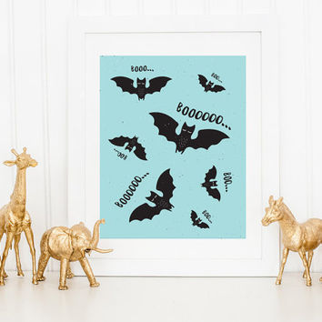 Batman Print, Bat Boo Print, Boo, Super Hero Print, Kids Print, Boys Room Decor, Wall Decor, Kids Room Decor, Nursery Decor, Halloween Print
