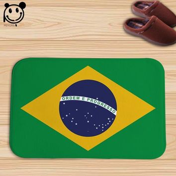 Autumn Fall welcome door mat doormat PEIYAUN Geometric Figures Brazil Argentina Germany Jamaica Flag Flannel  Factory Custom Made Indoor Carpets Floor Mats AT_76_7