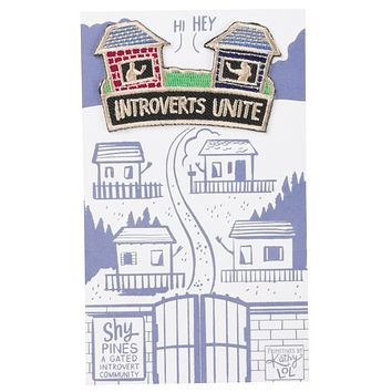 Introverts Unite (In Your Own Homes) No-Sew Patch