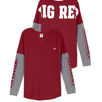 Indiana University Long Sleeve V-neck Tee - PINK - Victoria's Secret