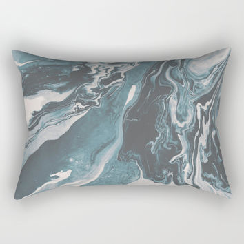 Teal (soul mate) Rectangular Pillow by duckyb