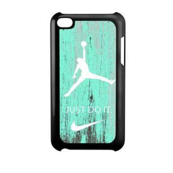 CREYUG7 Nike Jordan Mint Wood iPod Touch 4 Case