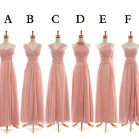 Chiffon Bridesmaid Dress, Sweetheart Dress ,Wedding Dress, Sexy dress,  Prom Gown,Custom Size and Color