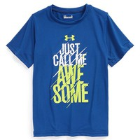 Boy's Under Armour 'Just Call Me Awesome' HeatGear Graphic T-Shirt,