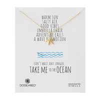 Dogeared Take Me To The Ocean Medium Starfish Necklace Gold Dipped - Zappos.com Free Shipping BOTH Ways