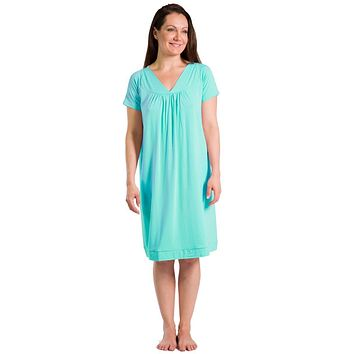 Women's Short Sleeve EcoFabric™ Nightgown - Relaxed Fit