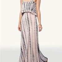 Tie Dye Ruffle Maxi Dress
