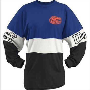 Florida Gators T-Shirt Long Sleeve Women's Shirt NCAA Pressbox Blue