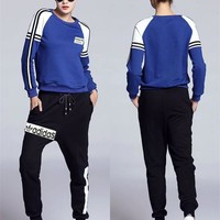 """Adidas"" Women Sport Casual Multicolor Stripe Long Sleeve Pullover Sweater Tops"