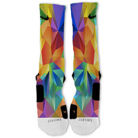 Rainbow Polygon Customized Nike Elite Socks!!