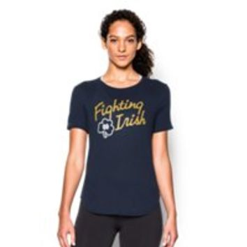 Under Armour Women's Notre Dame UA Tri-Blend Shirzee T-Shirt
