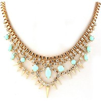 Mint Spiked Spangle Necklace