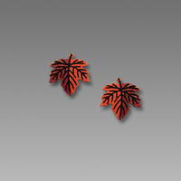 Sienna Sky Earrings - Autumn Maple Leaf Posts