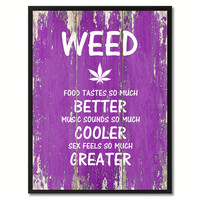 Weed Adult Quote Saying Gift Ideas Home Décor Wall Art