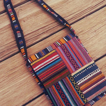 Aztec Patchwork Messenger Bag