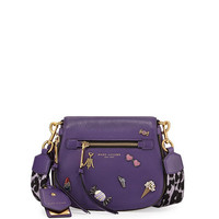 Marc Jacobs Nomad Small Pebbled Leather Crossbody Bag, Violet